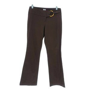 Cache Boot cut Embellished waist Pants Brown